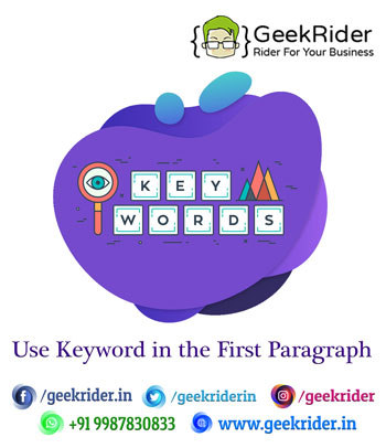 Keyword-in-the-First-Paragraph